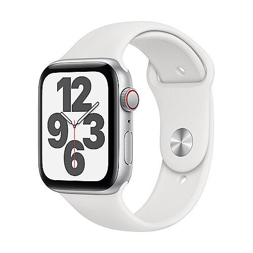 Apple Watch SE Alu Silver GPS + Cell. 44 mm White Sport Band Regular