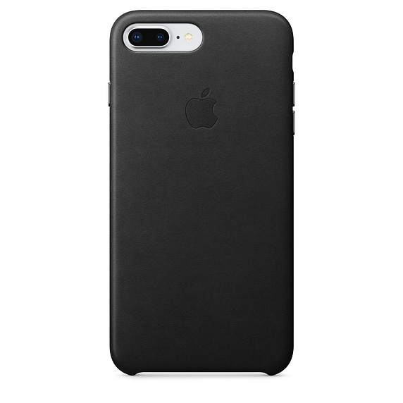 Apple iPhone 8 Plus / 7 Plus Leather Case - Black