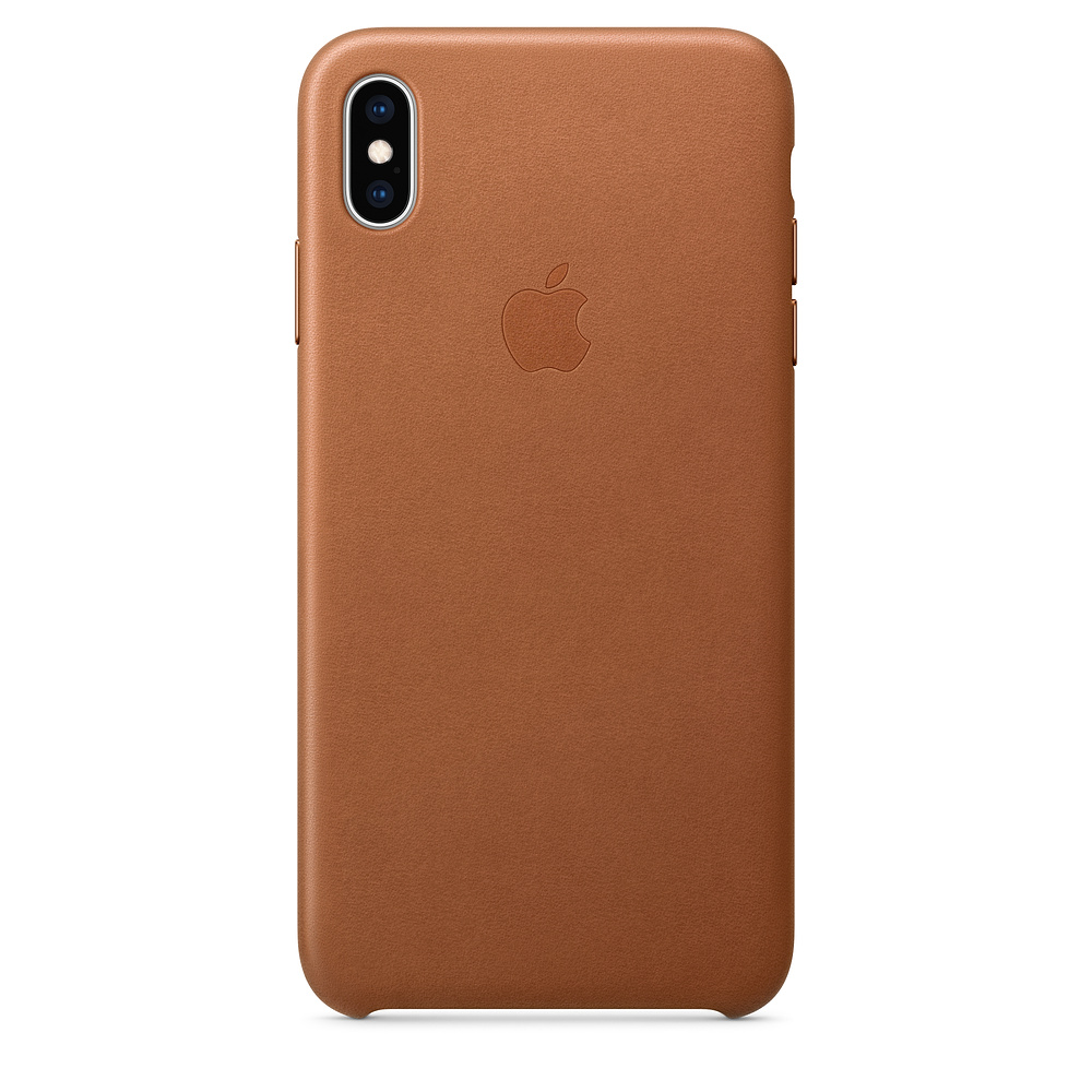 Apple iPhone XS Leather Case - Saddle Brown