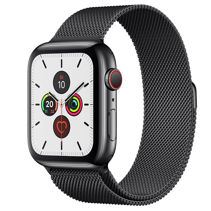 Apple Watch Ser5 Steel Space GPS+Cell 44mm Space Milanes
