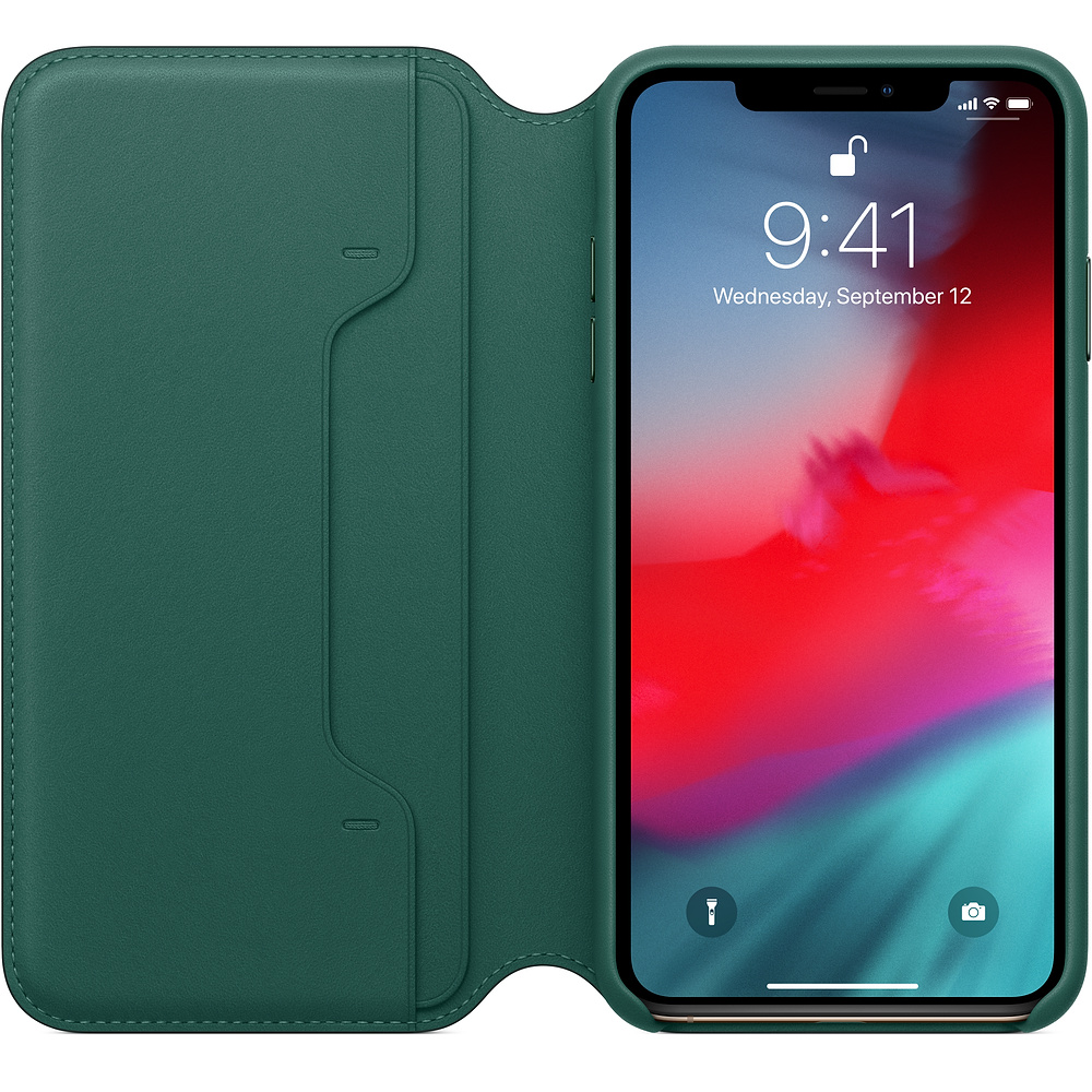 Apple iPhone XS Max Leather F olio - Forest Green