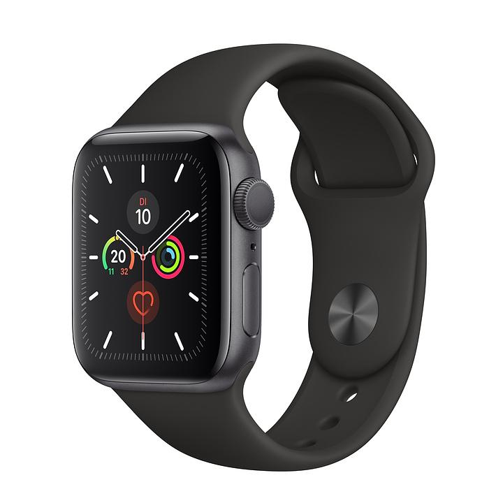 Apple Watch Ser5 Alu Space GP S 40mm Black Sport Band