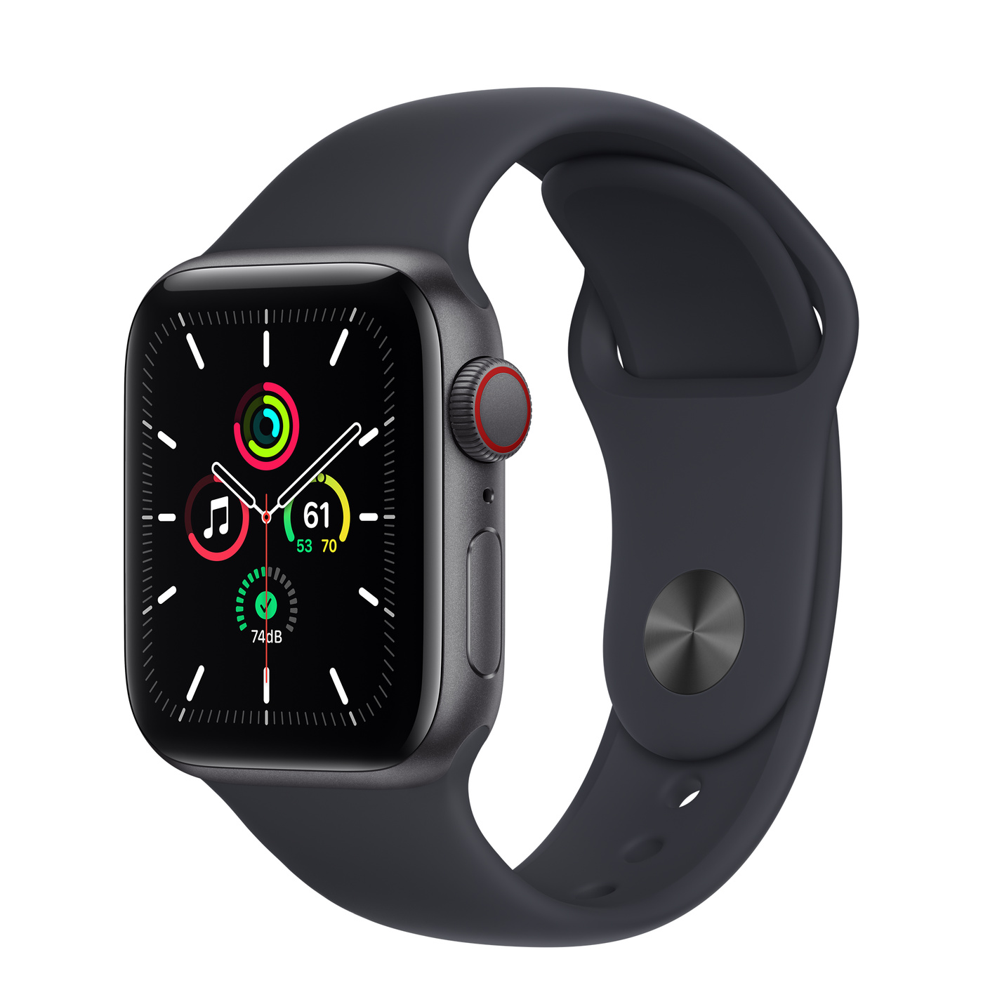 Apple Watch SE Alu Space GPS + Cell. 40 mm Midnight Sport Band