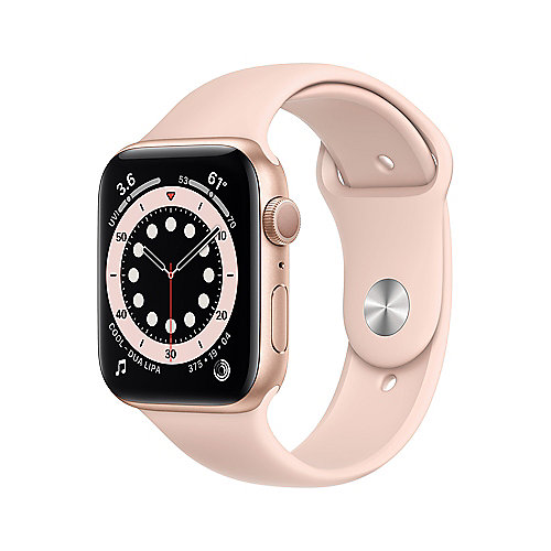 Apple Watch Ser6 Alu Gold GPS 44mm Pink Sand Sport Band Regular