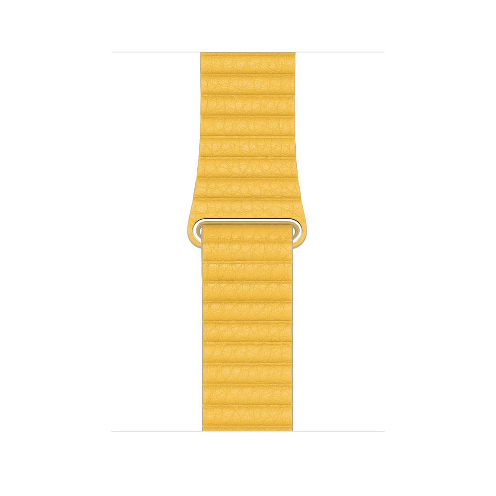 Apple Watch 44mm Meyer Lemon Leather Loop Medium