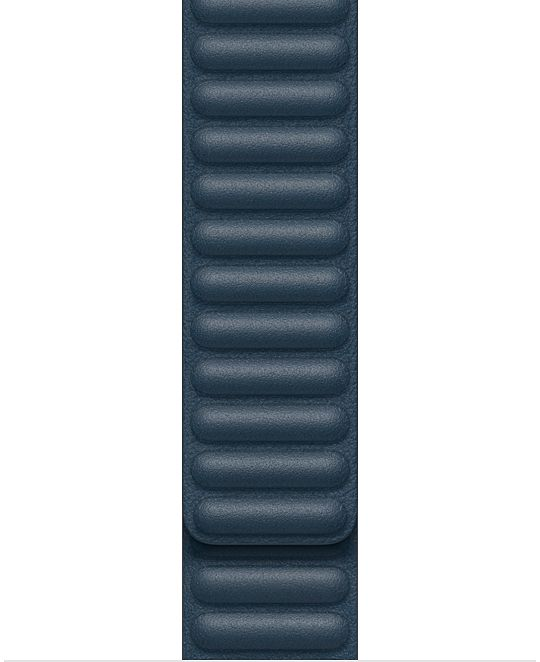 Apple Watch 40 mm Baltic Blue Leather Link Large