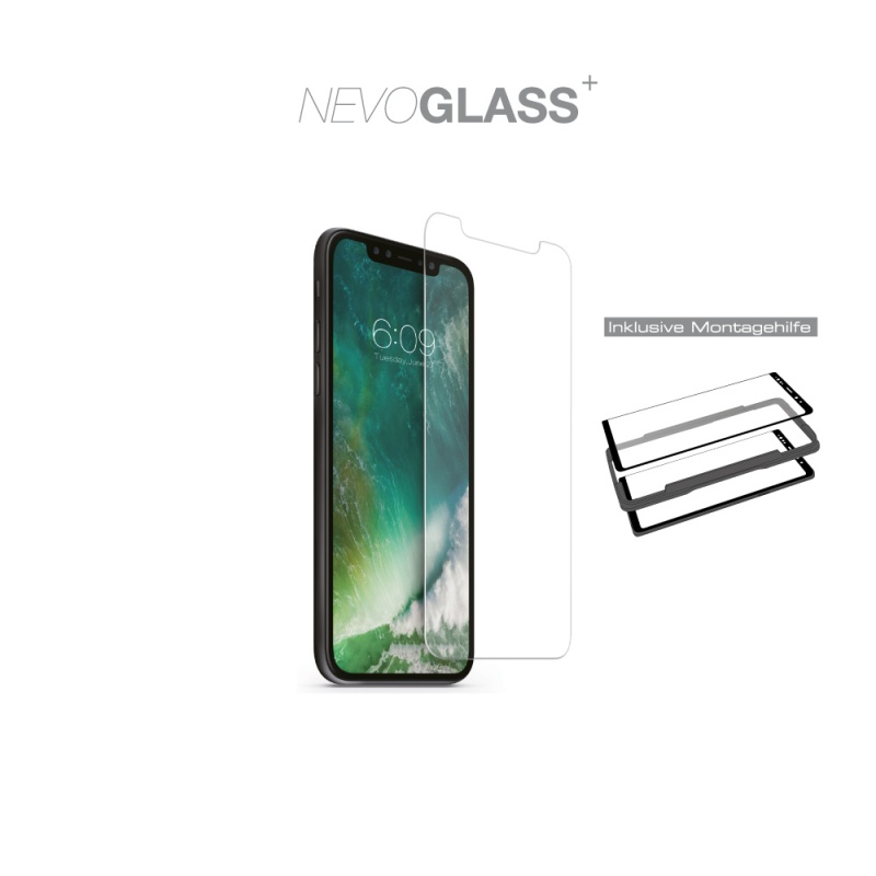Nevox NEVOGLASS tempered Glass für iPhone 12/12 Pro mit EASY APP