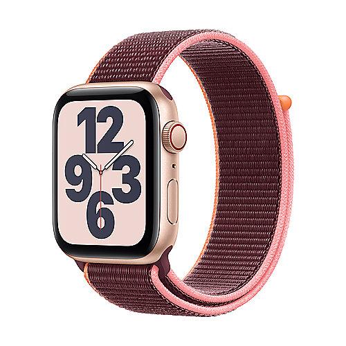 Apple Watch SE Alu Gold GPS+Cell. 40mm Plum Sport Loop
