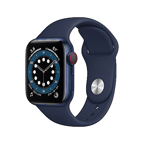 Apple Watch Ser6 Alu Blue GPS + Cell. 44 mm Deep Navy Sport Band Regular
