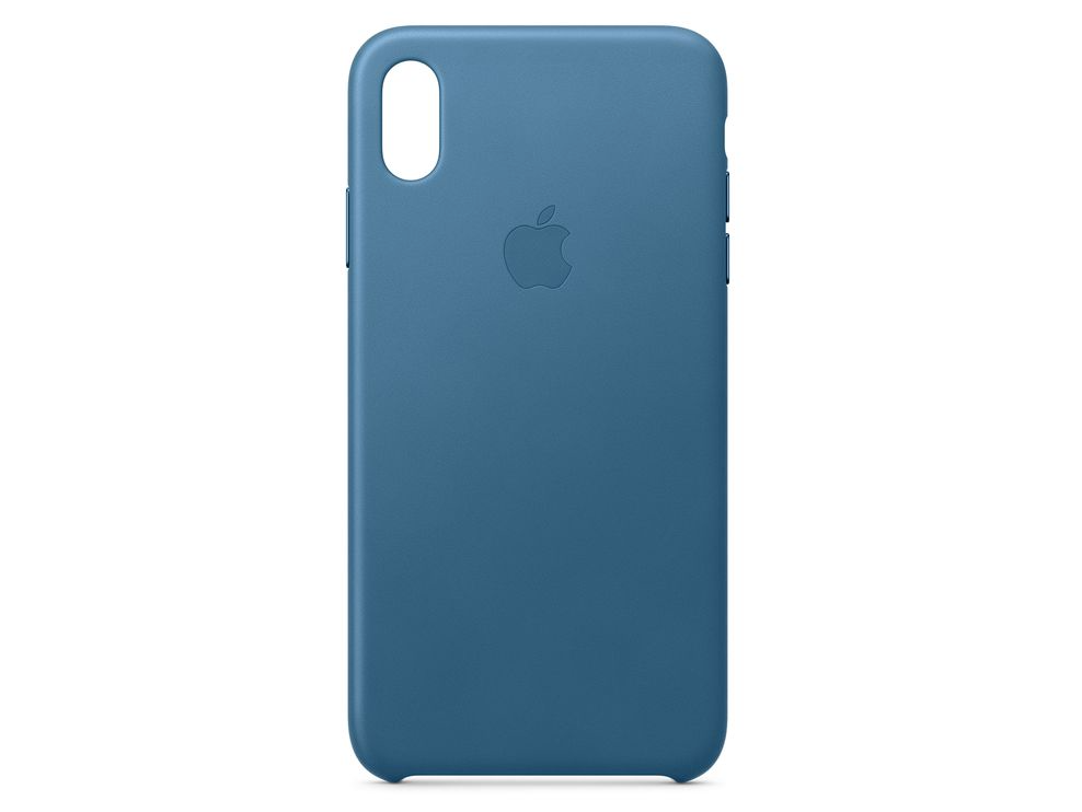 Apple iPhone XS Leather Case Cape Cod Blue