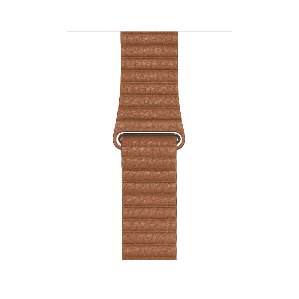 Apple Watch 44 mm Saddle Brown Leather Loop Medium