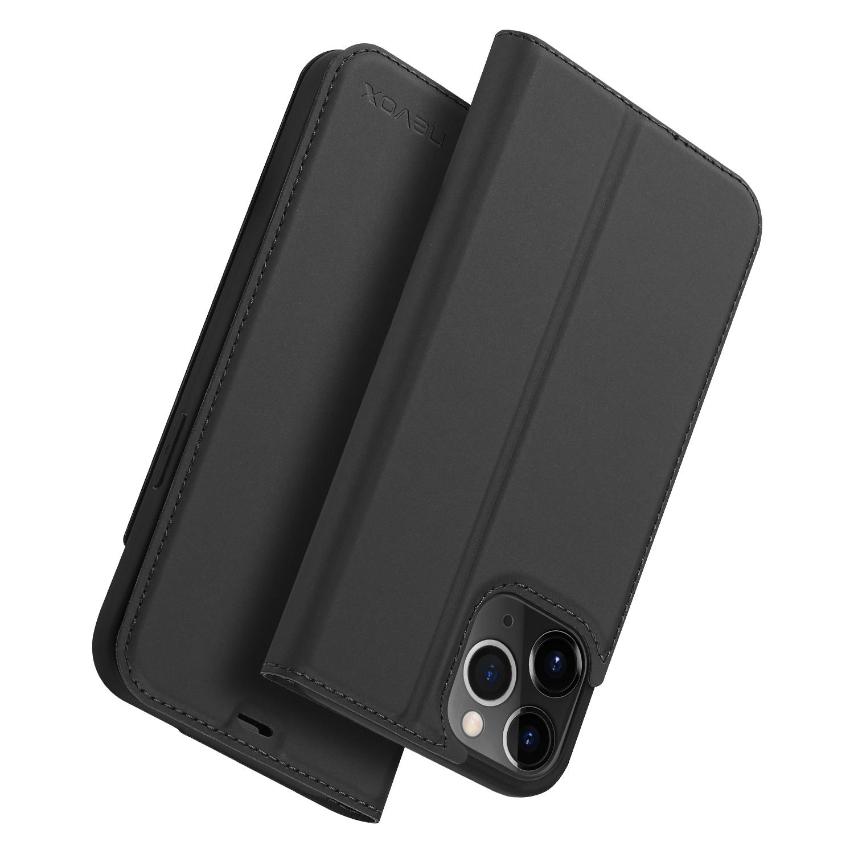 Nevox Vario Booktasche für iPhone 12 Pro Max basaltgrau