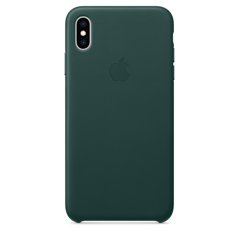 Apple iPhone XS Max Leather C ase - Forest Green