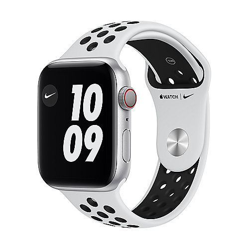 Apple Watch Nike Ser6 Alu Silver GPS+Cell. 44mm Pure Platinum/Black Nike Sport Band Regular