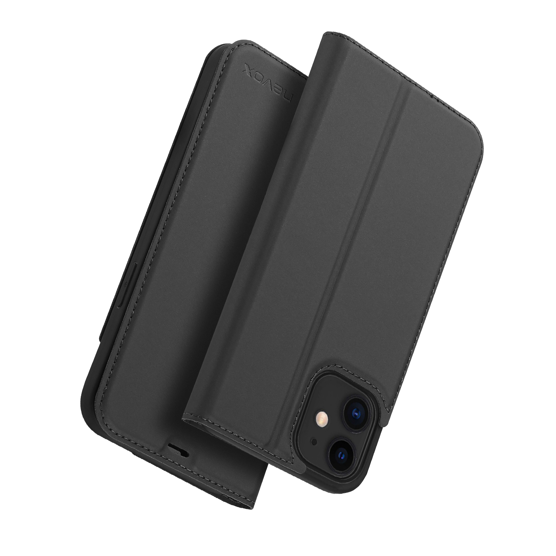 Nevox Vario Booktasche für iPhone 12 mini basaltgrau