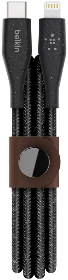 Belkin DuraTek Plus Lightning auf USB-C Kabel 1,2 m schwarz