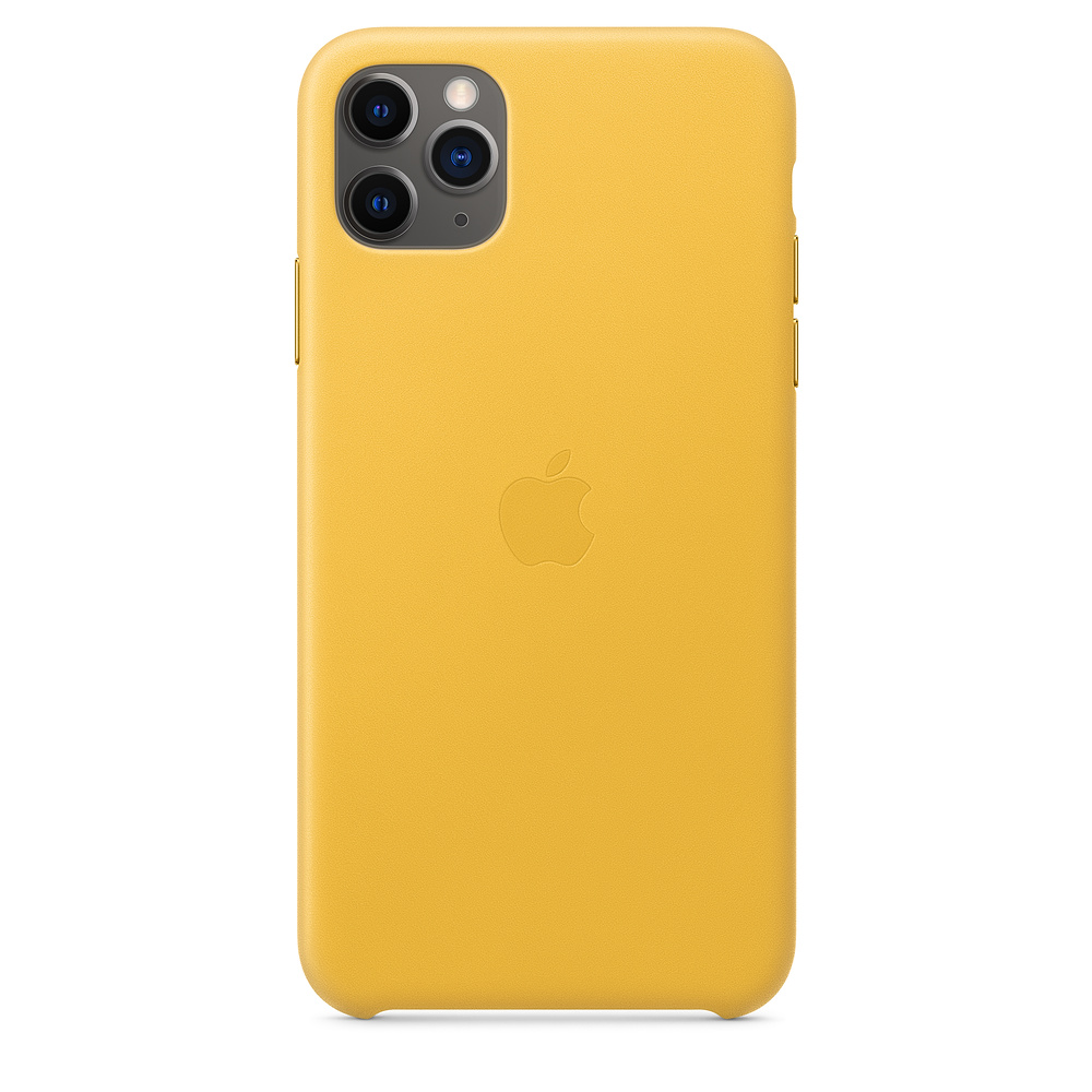 Apple iPhone 11 Pro Max Leather Case Meyer Lemon
